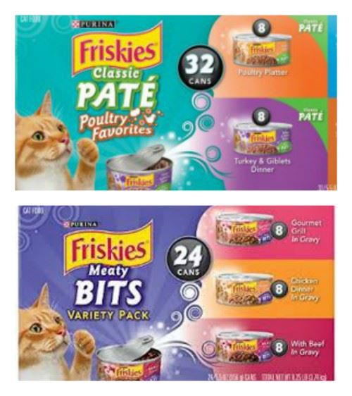 Friskies Pate and Friskie Bits Canned Cat Food