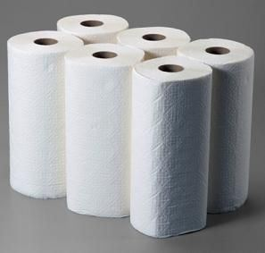 six rolls of paper towel